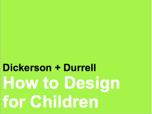 How to Design for Children